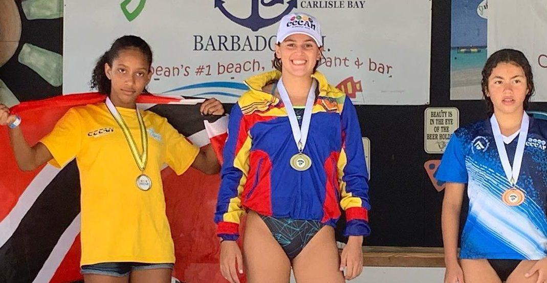 La venezolana Antonella Vivas le otorgó a Venezuela medalla de oro en Aguas Abiertas Centroamericano Barbados 2019