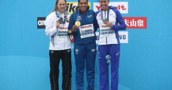 Podio 25Km Femenino Mundial FINA Aguas Abiertas Gwangju 2019 Gettyimages